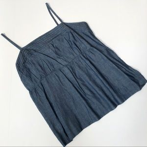 NWT Loft Chambray/Denim Top - Empire Cut (Medium)